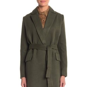 Re:named Gray Duster Jacket with Belt